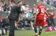 Van Gaal confirms United are chasing a 'fast winger' as Arjen Robben rumours grow