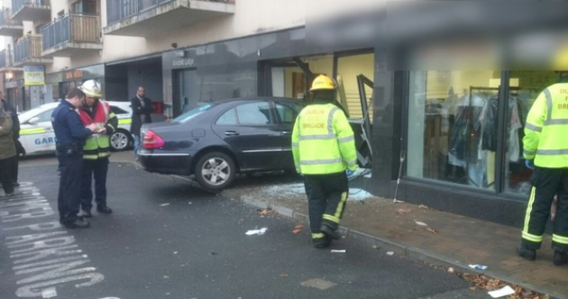 Nobody hurt as car goes through Dublin shop window