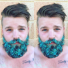 Men are putting tons of glitter in their beards for a festive makeover