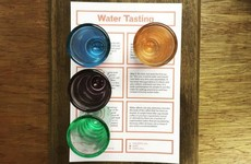 A Dublin coffee shop is charging €3.50 for a 'water tasting' menu
