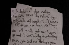 Two Irish girls wrote an amazing letter to convince their friend's Mam to let her sleep over
