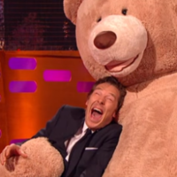 Benedict Cumberbatch posed like an otter and punched a teddy bear on Graham Norton last night