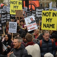 """Not in my name"" - thousands protest in London against air strikes on Syria"