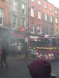 Dublin street reopened to traffic after earlier fire at restaurant