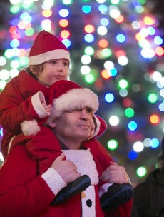 Pictures: the O'Connell Street Christmas lights are now officially on in Dublin