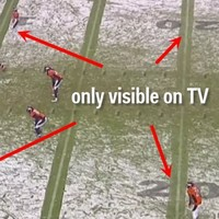 NBC came up with a nifty trick to help TV viewers watch an NFL game in the snow