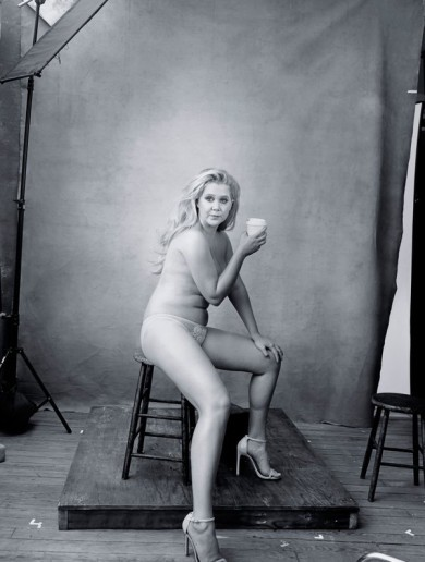 Amy Schumer looks phenomenal in the nip for next year's Pirelli calendar