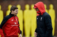 Gerrard back at Melwood for his first training session under Klopp