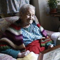 Europe's oldest woman says the key is living alone and eating eggs