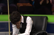 The moment you realise you've blown £44,000 by missing a simple black for maximum break