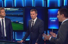 Gutted! Jamie Carragher's priceless reaction to Gary Neville's departure