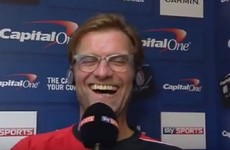 Jurgen Klopp's post-match interview with Sky Sports last night was wonderfully entertaining