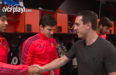 'I'm looking to bring stability': Gary Neville met the players & oversaw Valencia training earlier