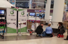 A hoverboard salesman crashed his hoverboard at Jervis Centre