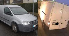 Gardaí want to know if you saw these two vans involved in the tiger kidnapping