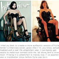 This woman responded to Kylie Jenner's wheelchair photo shoot by doing her own