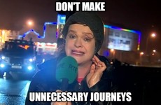 Teresa Mannion's windswept news report went down a storm this evening