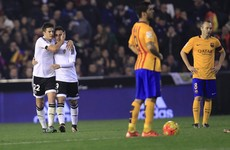 Late goal earns Valencia an unlikely point against Barcelona as Gary Neville watches on