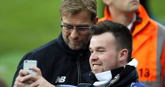 Jurgen Klopp is so sound he's taking time to pose for selfies with Newcastle fans