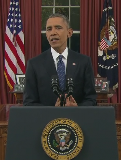 """This was an act of terrorism"": Obama in rare Oval Office address"