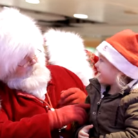 This Santa melted hearts by chatting to a little girl in sign language