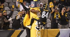 Antonio Brown got creative with his touchdown celebration