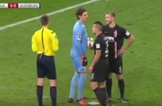 Bundesliga goalkeeper successfully sabotages penalty kick with sneaky antics