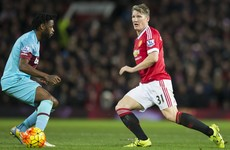 Bastian Schweinsteiger has been hit with FA charge for Winston Reid incident