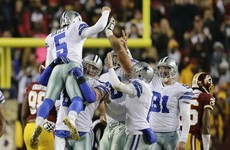 Late drama as Dan Bailey's 54-yard field goal sees Cowboys edge past Washington