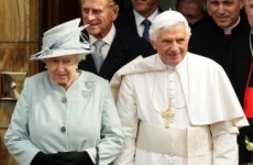 """Pope speaks of """"sadness"""" over child abuse revelations en route to UK"""