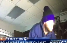 Burglar caught after robbing office while wearing shirt with his name written on it