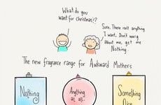 This cartoon perfectly sums up the struggle of getting your mam a Christmas present