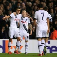 Erik Lamela's first-half hat-trick sees Tottenham cruise through as group winners