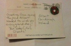 A Donegal postman actually managed to deliver this postcard all the way from America