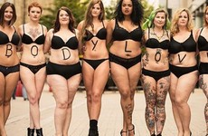 A bunch of people took to the streets in their underwear to promote body positivity