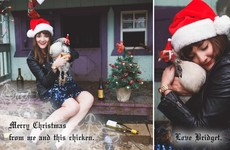 This single woman makes an excellent lonely Christmas card every year