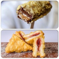 An Irish chipper in Sydney is selling battered black pudding and deep fried jam sandwiches