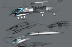 A test track for an 800mph train is being built