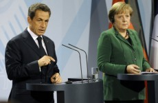 Merkel and Sarkozy promise crisis package