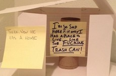 This passive aggressive bathroom gesture is a work of art