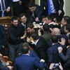 WATCH: Massive hair-pulling, face-gouging brawl erupts in Ukrainian parliament