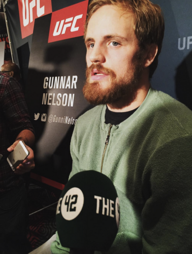 Gunnar Nelson: Ireland feels like home and the people are my countrymen