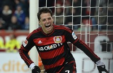 Man United outcast Javier Hernandez struck a 13-minute hat-trick earlier