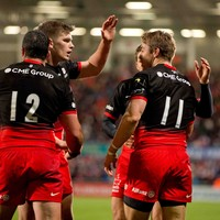 Saracens continue to smash their way through Pool 1 with a bonus point in Oyonnax