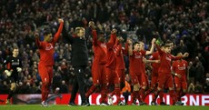 Some people were not impressed with Liverpool's post-match reaction today
