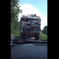 A Leitrim man's epic swearing at a turf truck was caught on video
