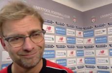 Jürgen Klopp walks away from post-match interview - but returns more charming than ever