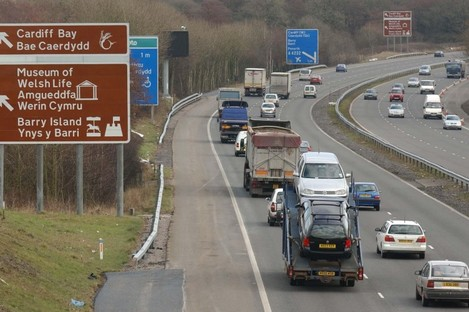 File photo of the M4 in South Wales (not of scene).