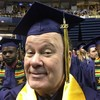 Mr Belding graduates from college at the age of 65