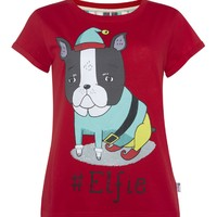 People think this cute Penneys Christmas t-shirt looks phallic